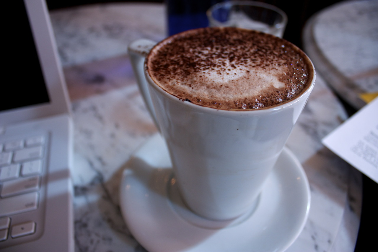 Mocha @ my usual place, Coco Momo Cafe Bar & Brasserie in South Kensington