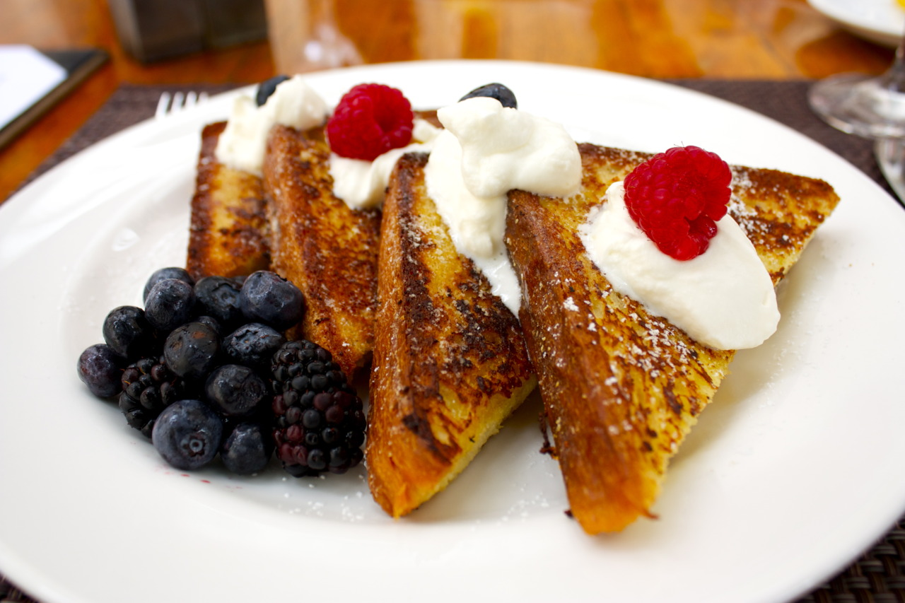 Brioche French Toast with fresh berries @  Sou'Wester  at the Mandarin Oriental in Washington D.C.