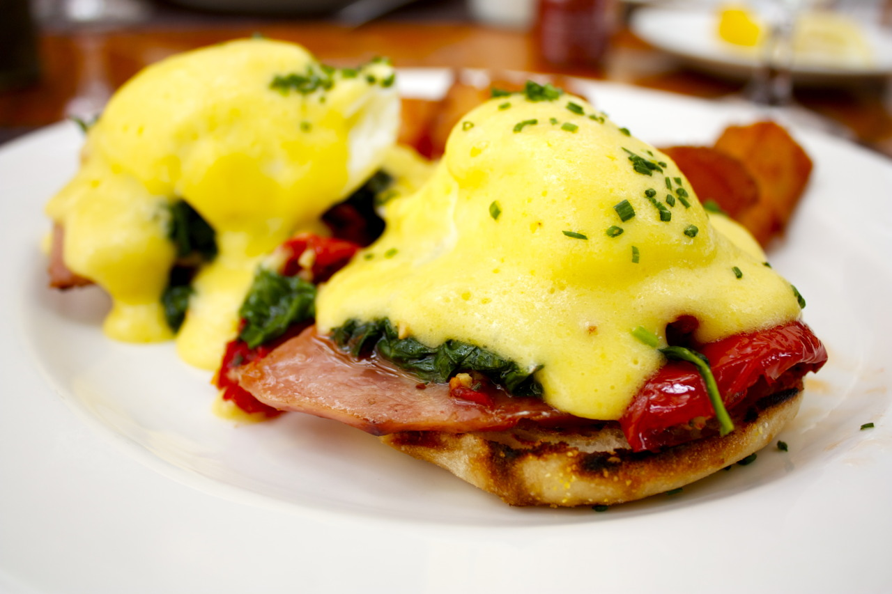 Eggs Benedict @  Sou'Wester  at the Mandarin Oriental in Washington D.C.