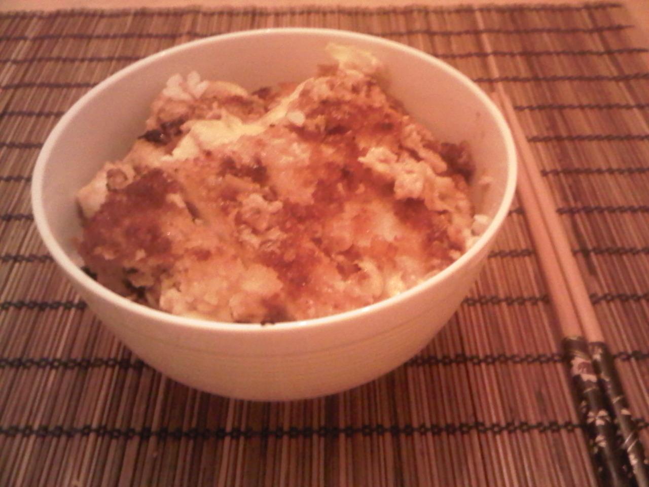 Homemade Katsudon. Thanks Jonathan Kim! Nom nom nom.
