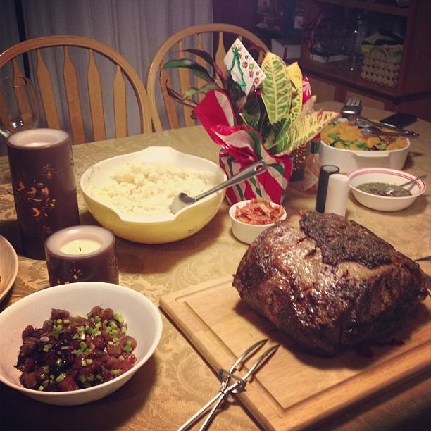 Christmas dinner at Jon's!