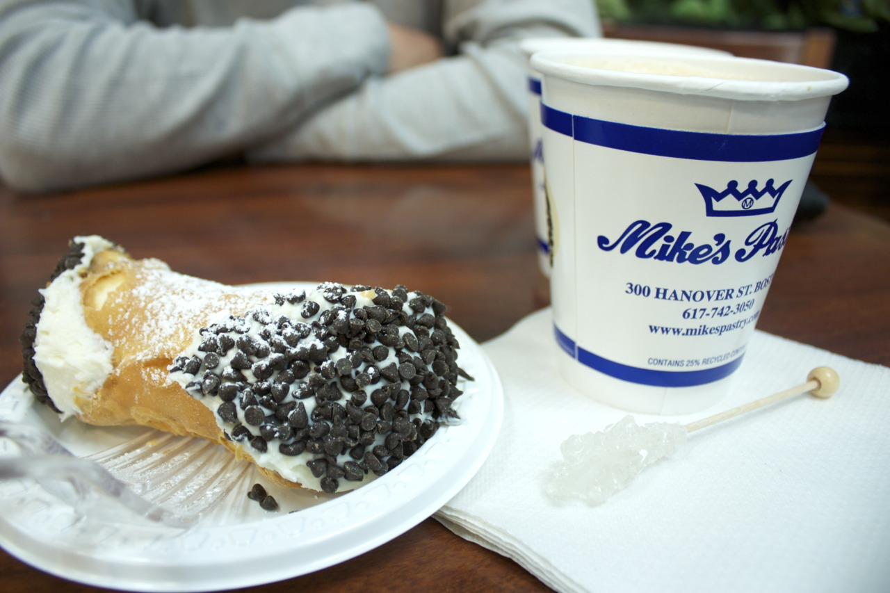 Chocolate Chip Cannoli @  Mike's Pastry  in North End, Boston