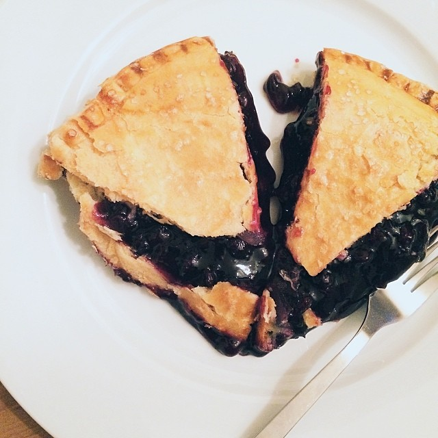 Blueberry #pie in celebration of Pi Day #latergram #piday #dessert #food #vscocam