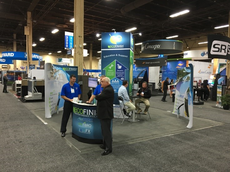 Ecofinish appears at the 2015 international pool spa for Pool spa show vegas 2015