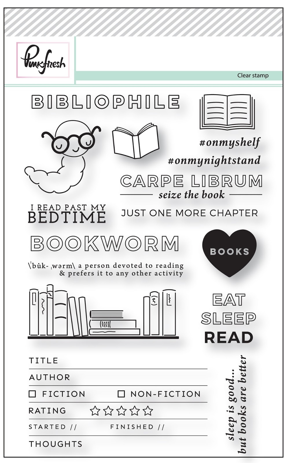 Bookworm Stamp Set