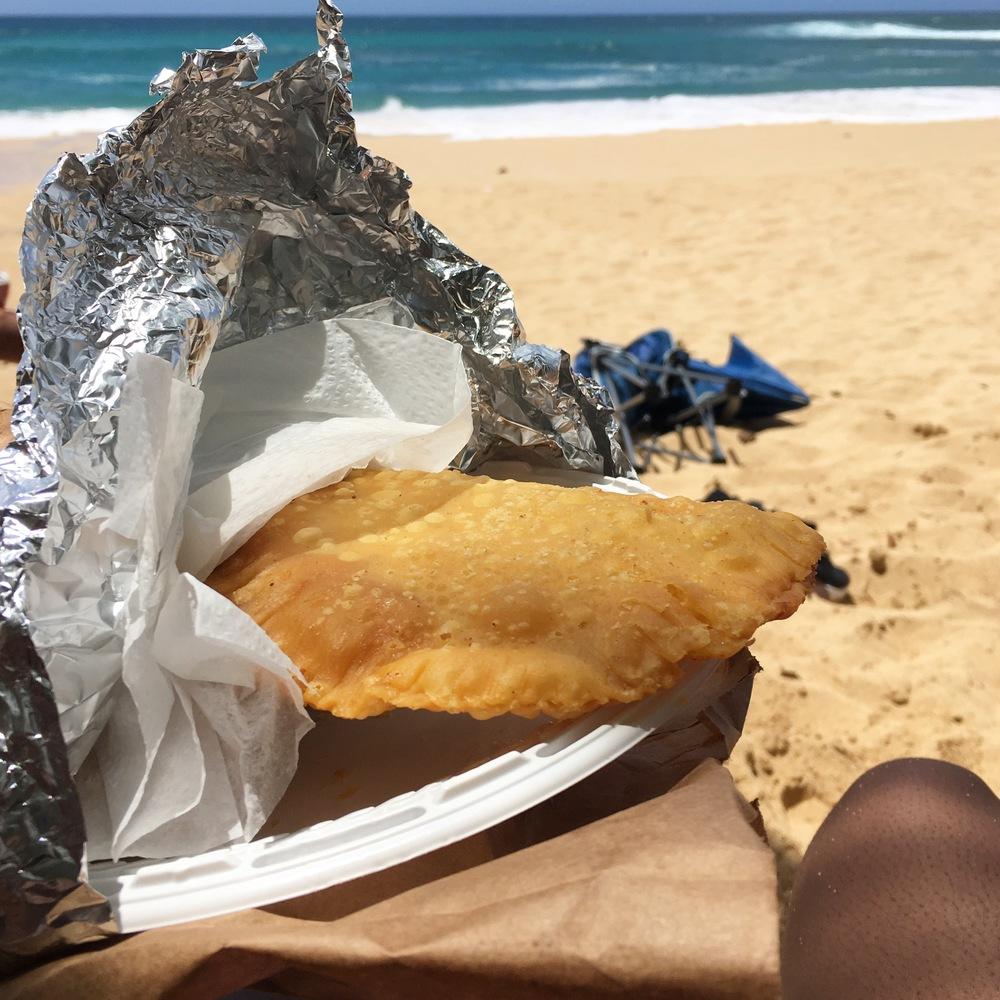 Empanadas + the Beach = Paradise
