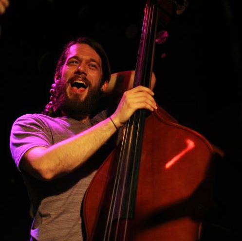 Seth Barden playing bass with The Brand New Life at the Pinhook in Durham, NC. February 2013