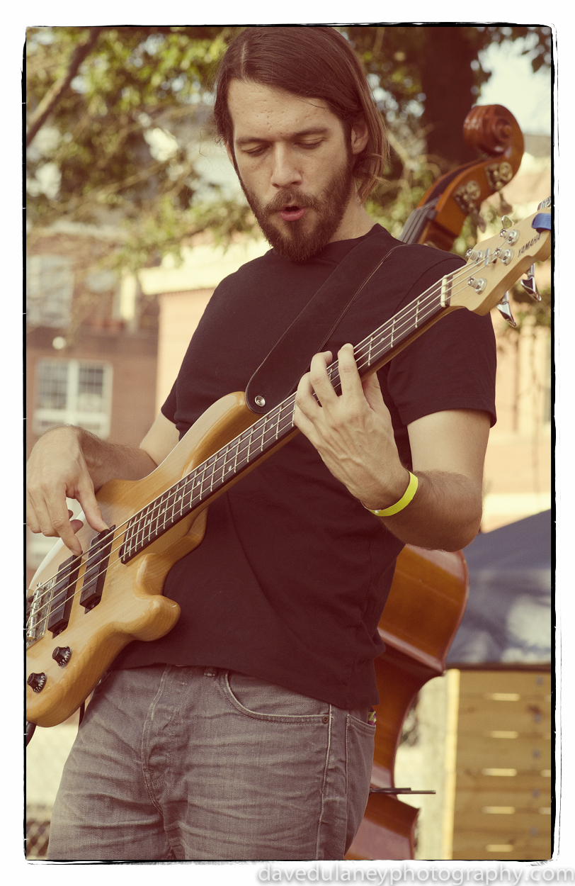 Seth Barden playing bass with The Brand New Life in Greensboro, NC. Sept 2013.