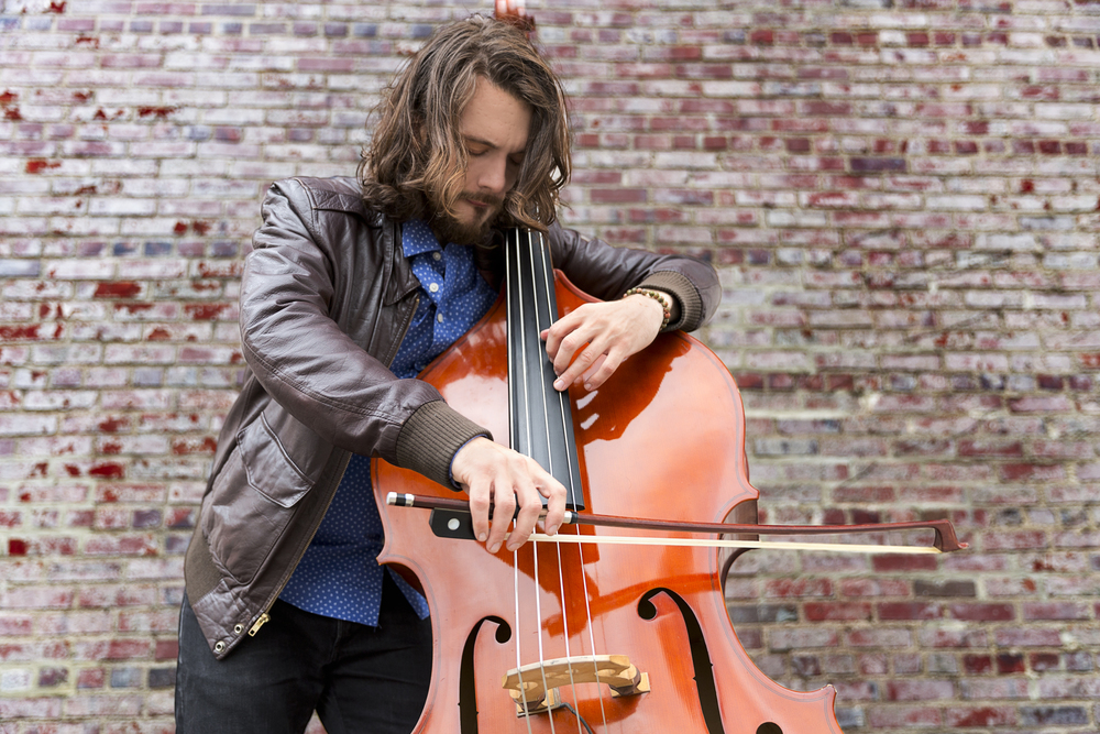 Seth Barden playing upright bass arco!