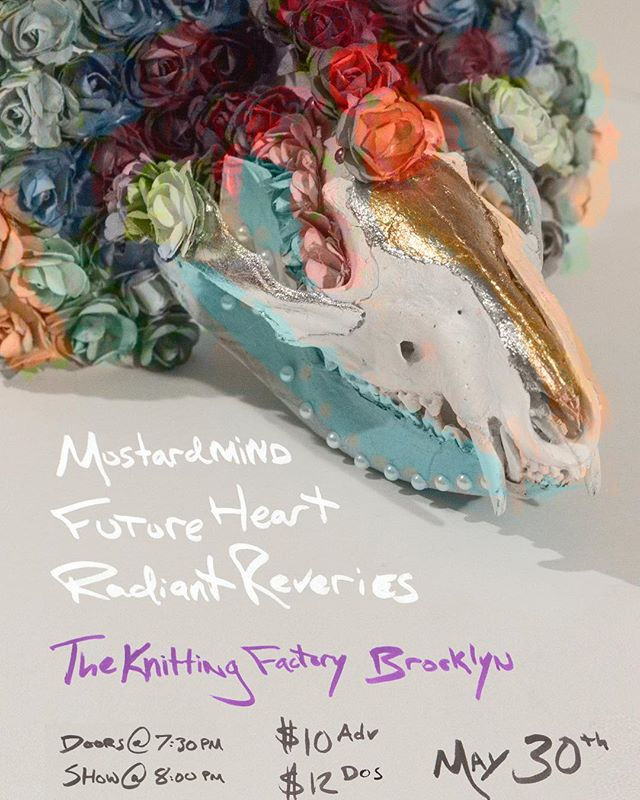 Next gig next week with @future_heart_the_band at @knittingfactorybk on May 30th! We have a bunch of new tunes coming at you 💫🔥⚡️✨🌈🌈🌈 . . . . . . #futureheartband #futureheartmusic #bkbands #brooklynbands #livemusic #nycbands #synthpop #psychpop