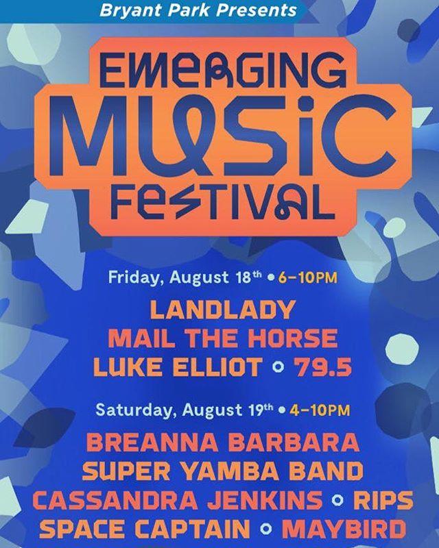 Bringing a big @superyamba band to Bryant Park this afternoon at 5pm!