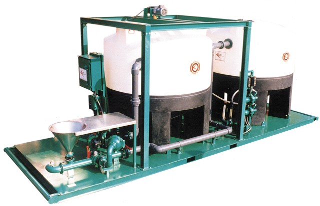 poly-mate-GPM 5000-polymer-mixing-injection-eductor-hopper-jet-shear-tank-skid-mount
