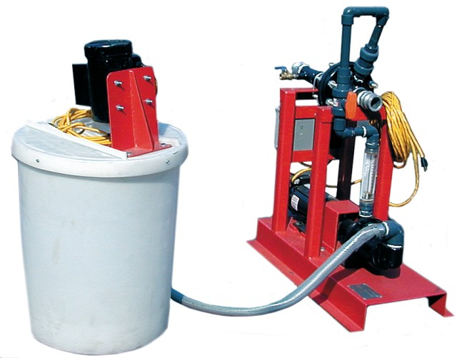 poly-mate-205 GPM-polymer-mixing-injection-system-pump-dewatering-sludge