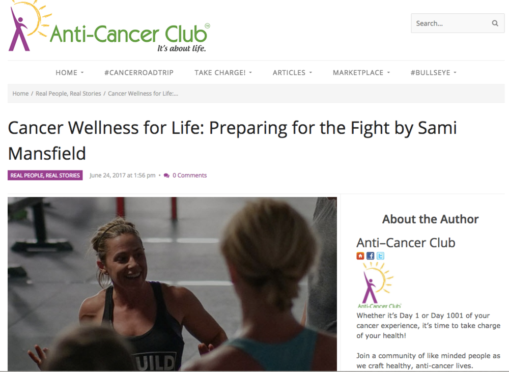 Preparing for the fight - Wellness is more than just being free of cancer.