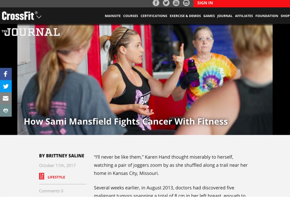 How Sami Fights Cancer with Fitness - Article on the Crossfit Journal
