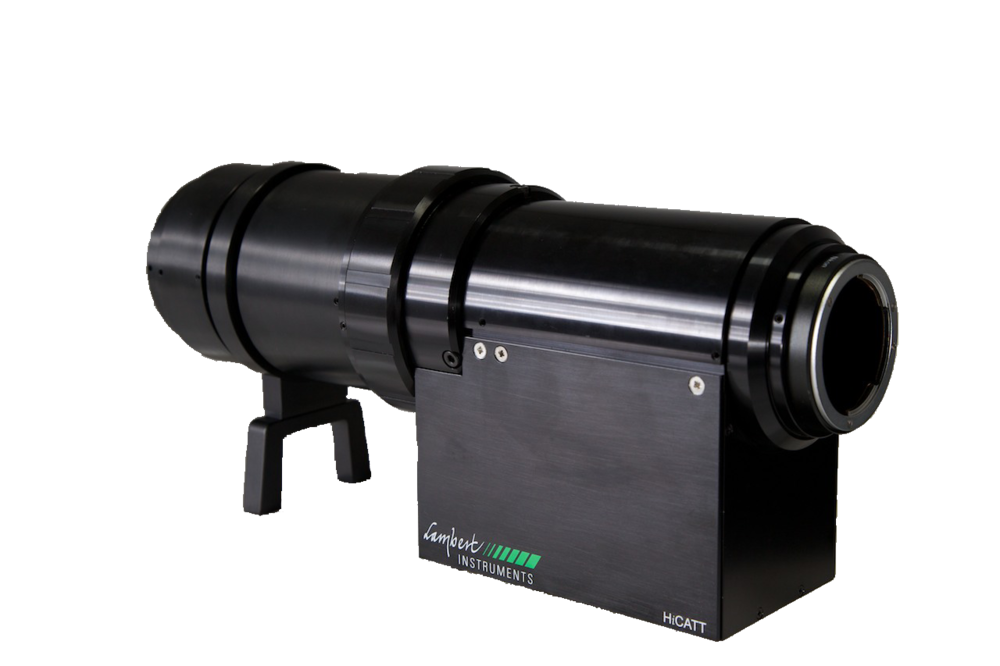 HiCATT - The High-speed Intensified Camera Attachment (HiCATT) is designed for use with a high-speed camera. The HiCATT increases the sensitivity of a high-speed camera and allows low-light-level imaging applications at frame rates up to 200000 fps.