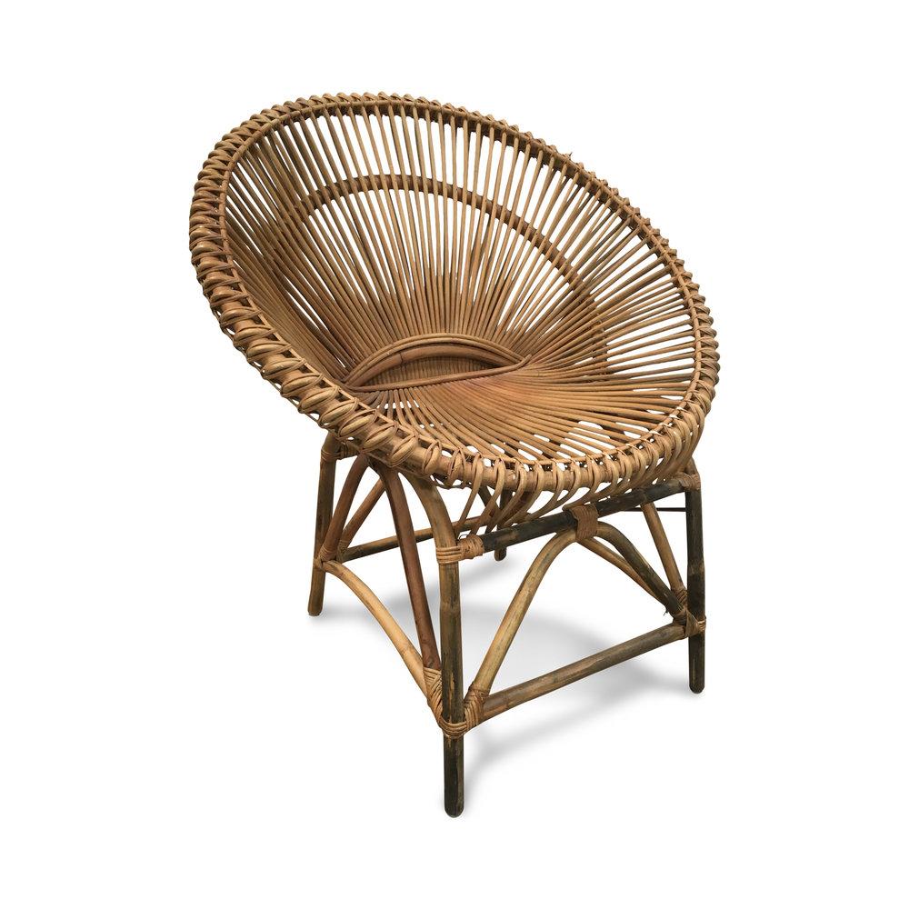 Superieur Vintage Rattan Circle Chair