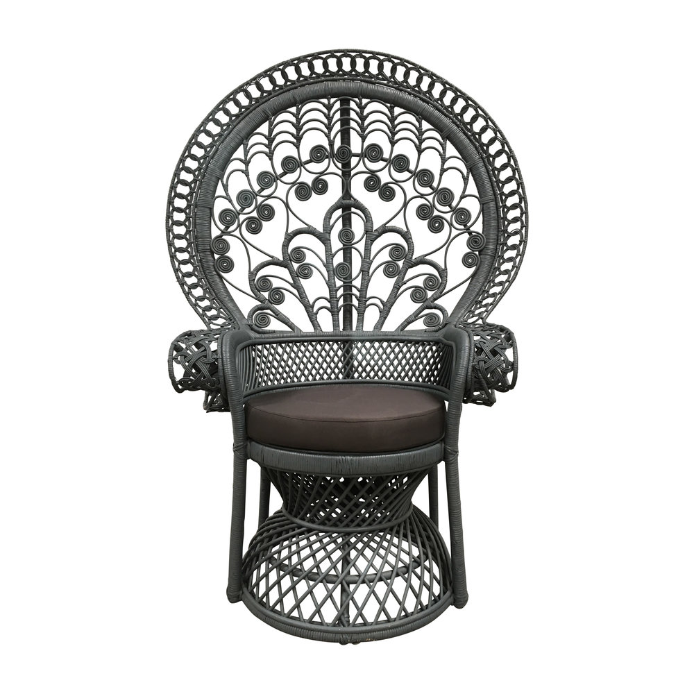 Painted Rattan Peacock Chair
