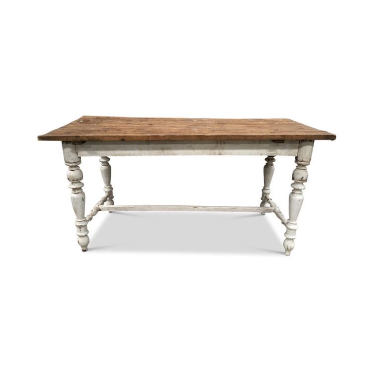 "Vintage European Farm Table  64""L x 31""D x 30.5""H"