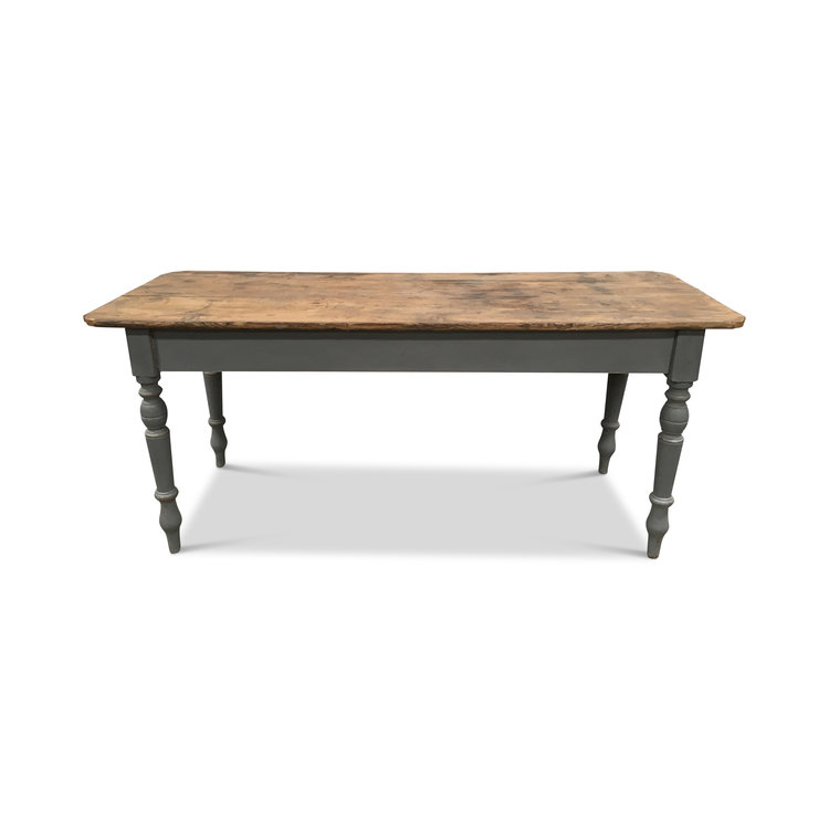 "Vintage European Farm Table  74""L x 26.5""D x 32.5""H"