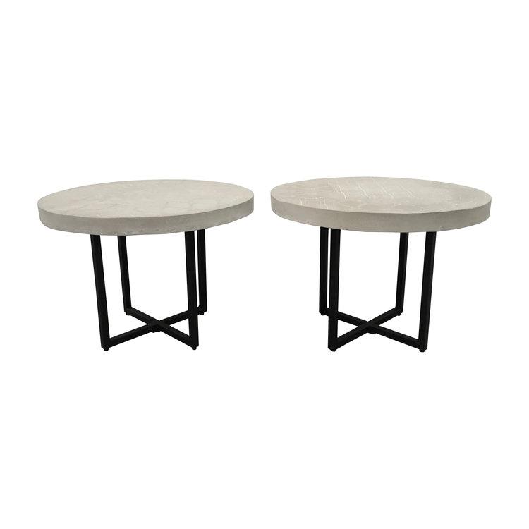 "Outdoor Concrete Side Tables 24""Dia. x 17.25""H"