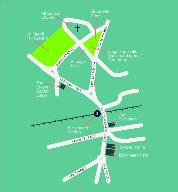 Location of Events - Blackheath Village Day, 2016