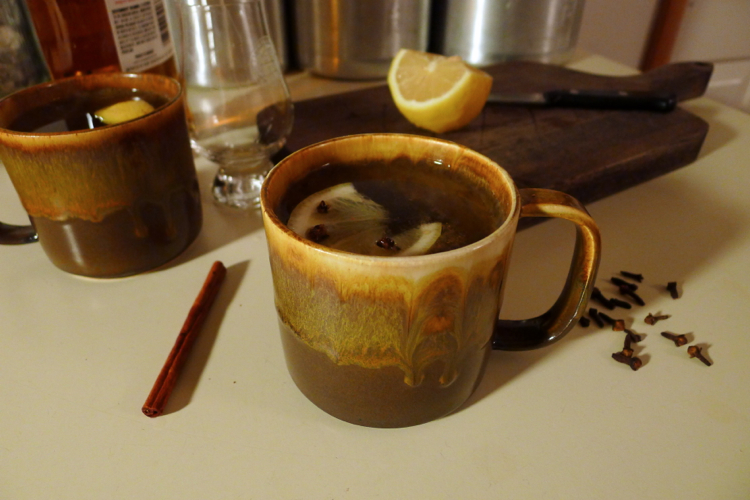 rum hot toddies for the first snow!