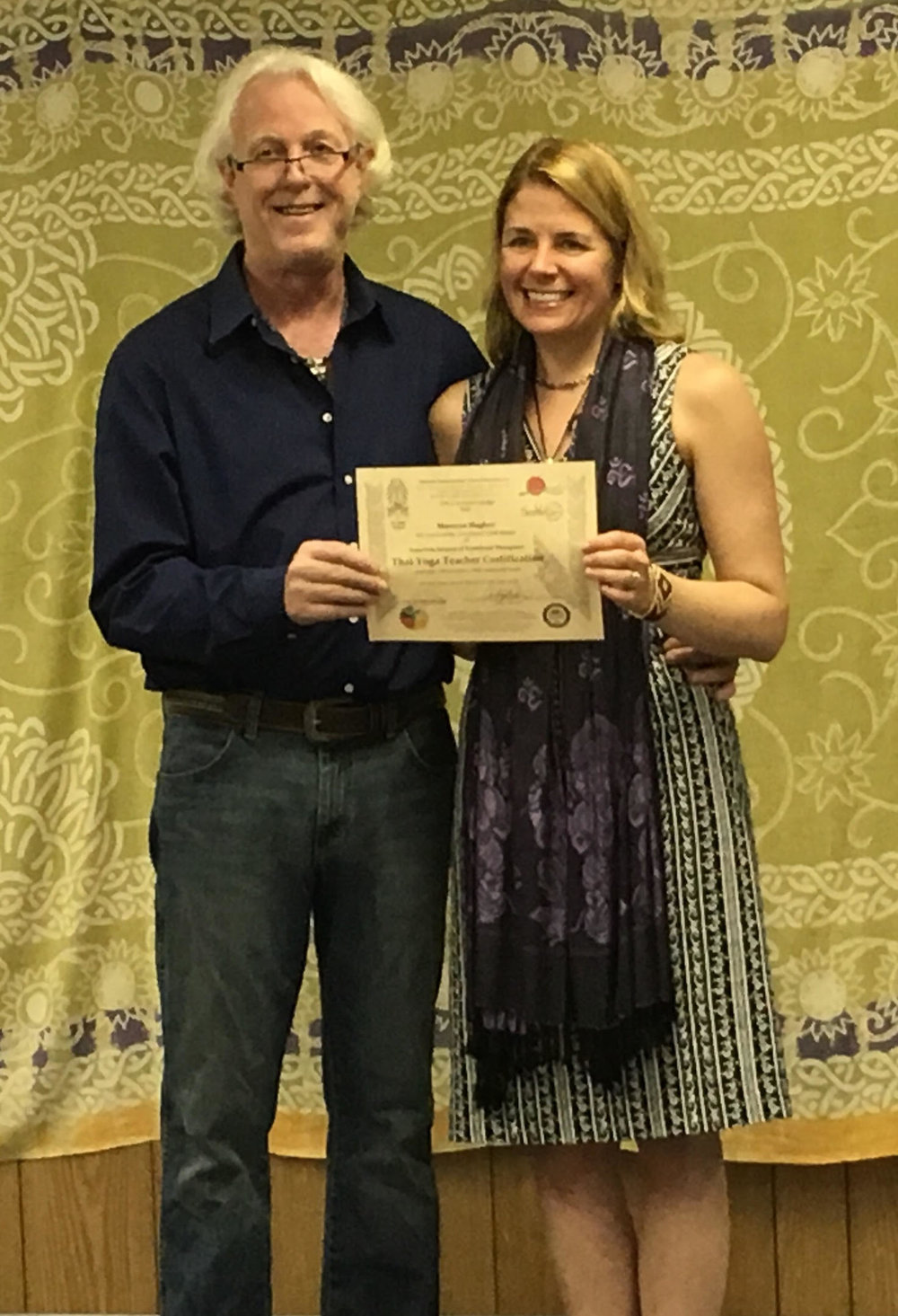 Dr. Anthony B. James presenting SomaVeda® Thai Yoga Teacher Certificate March 30th, 2016