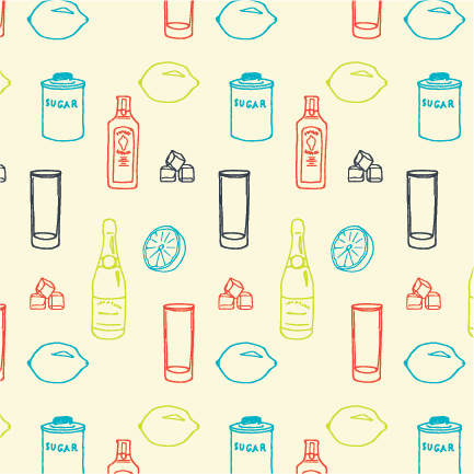 A pattern to be used on packaging elements.