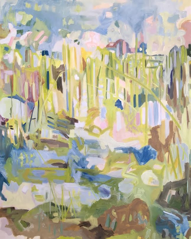 It Just Is / Cattails. 2018. Oil on canvas. 4x5 feet