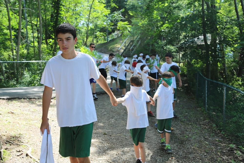 The Sub-Juniors embark on a Blind Hike.
