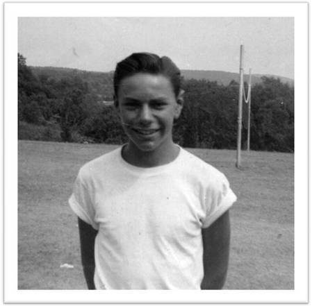 Arnie Horowitz at camp in the 1950s.