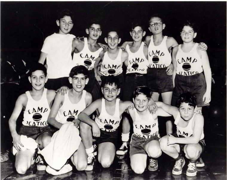The Scatico camper basketball team played at Madison Square Garden in the early 1950s. That's Arnie, kneeling, in the middle of the bottom.