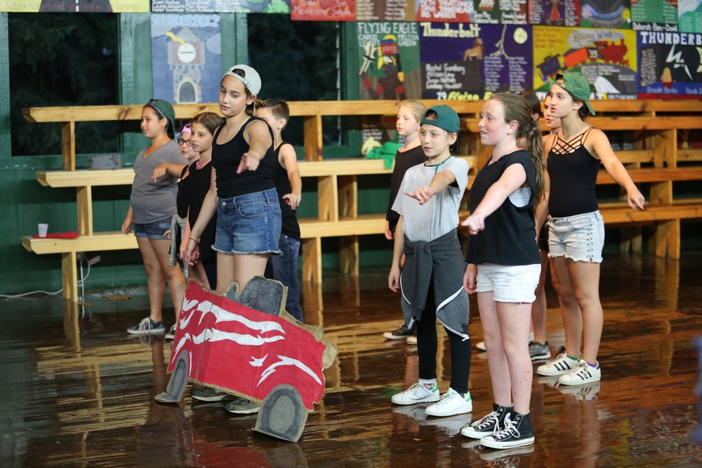 "Inters and Centers rock the Scatico Playhouse during their rendition of ""Grease Lightning"""