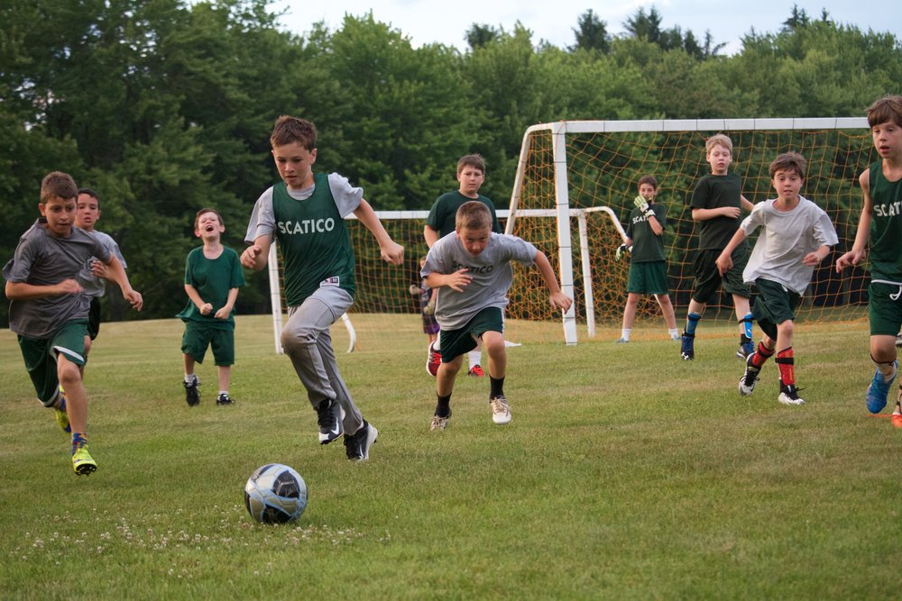 Lowe Hill Soccer League (Oz zeroing in on the ball).