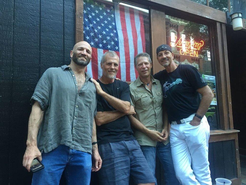 1960s-80s —June in Nashville:  Dan Deutsch, Greg Herman, Jim Rosenzweig , and  Larry Hamburg.
