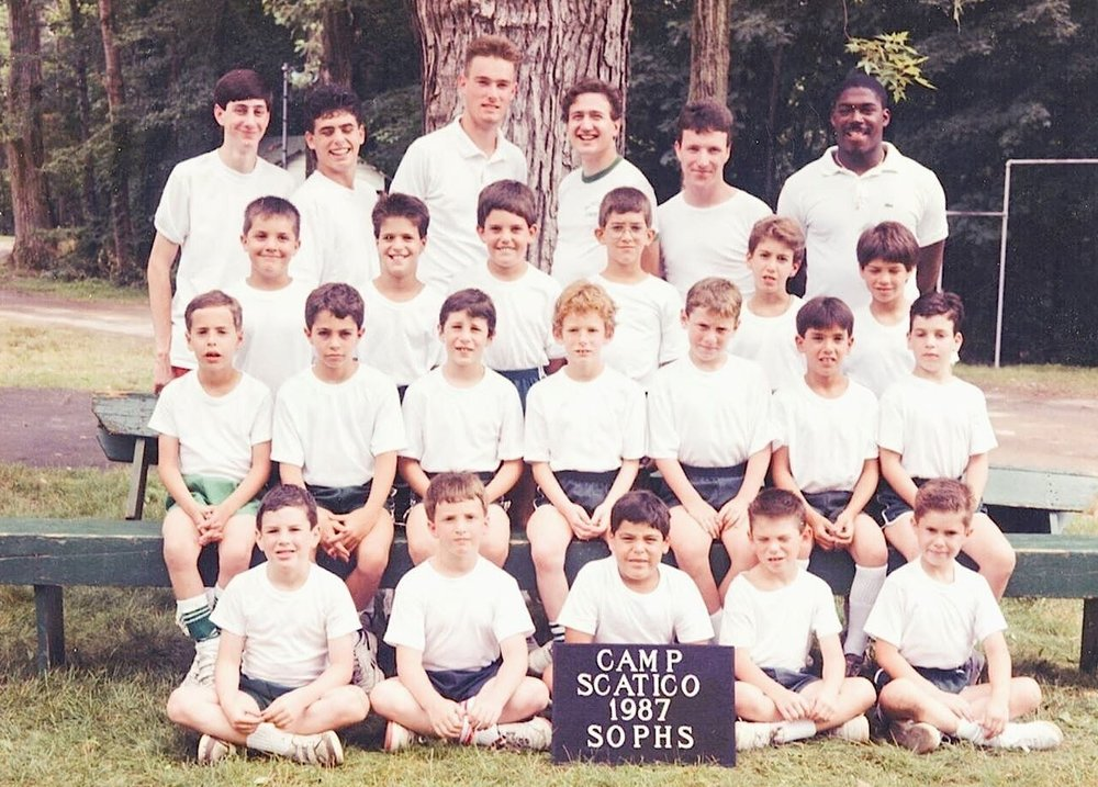 1987 Sophs—John Hickey, who now runs the Scatico media program, is in the back row, third from right.