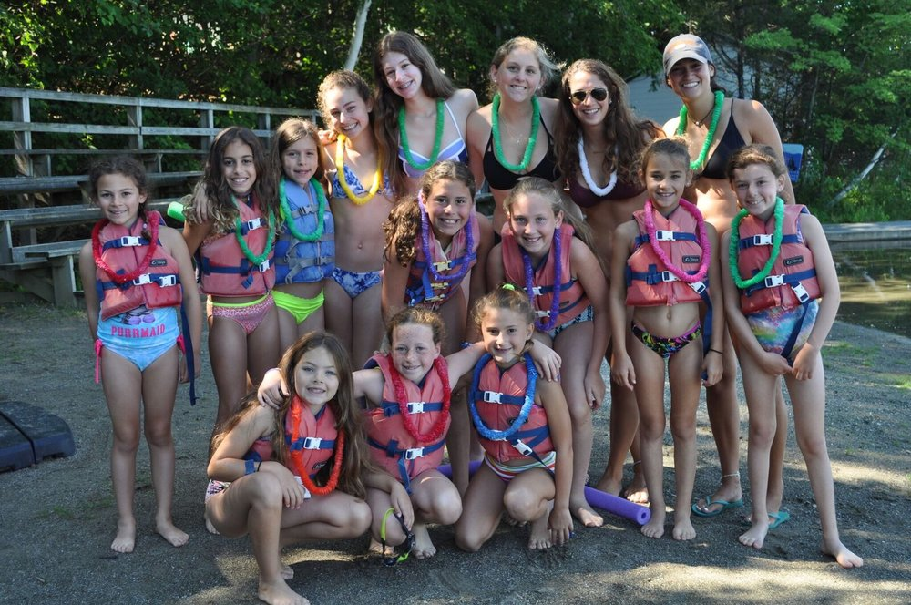 A Minicamp Luau at the girls' waterfront