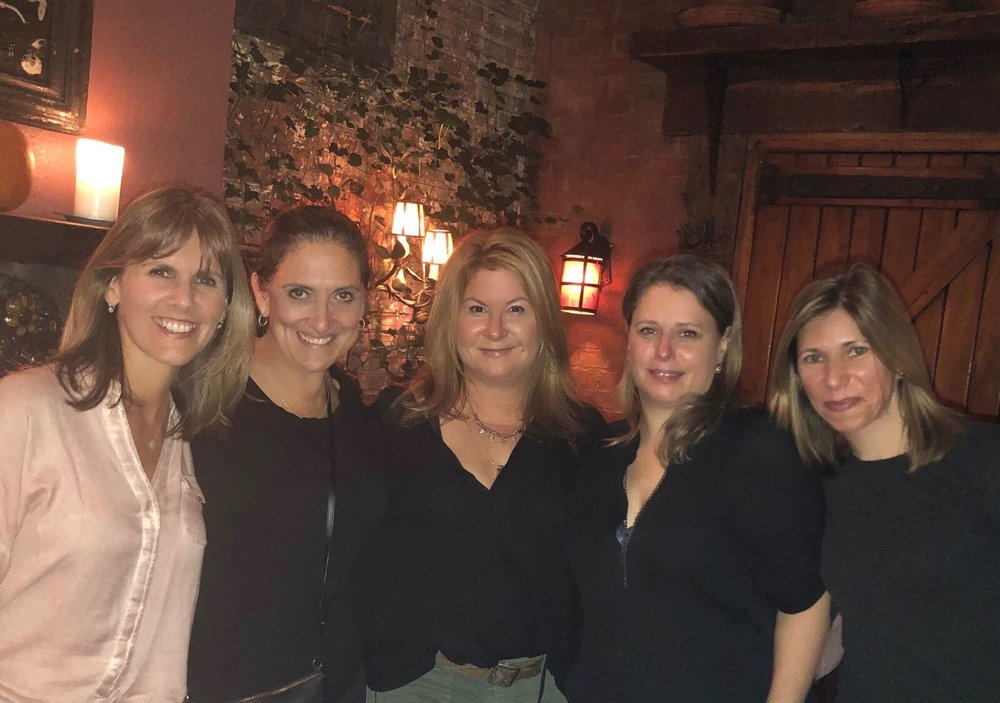 NEW YORK   A November reunion brought together 1979 and 1980 Soopers  Beth Friedman Mobilian,   Laura Danford Mandel ,  Jackie Olensky, Whitney Scott Jacobson,  and  Wendy Nedlin.