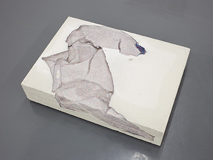 Marie Lund, Torso, 2014, concrete and cotton
