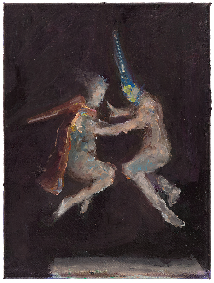 Valerie Favre, Ghost (nach Goyas Hexenflug), 2015, Oil on canvas