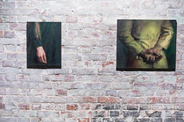 Lia Kazakou: 'Untitled', 2015 & 2014, oil on canvas // Photo by Berlin Art Link