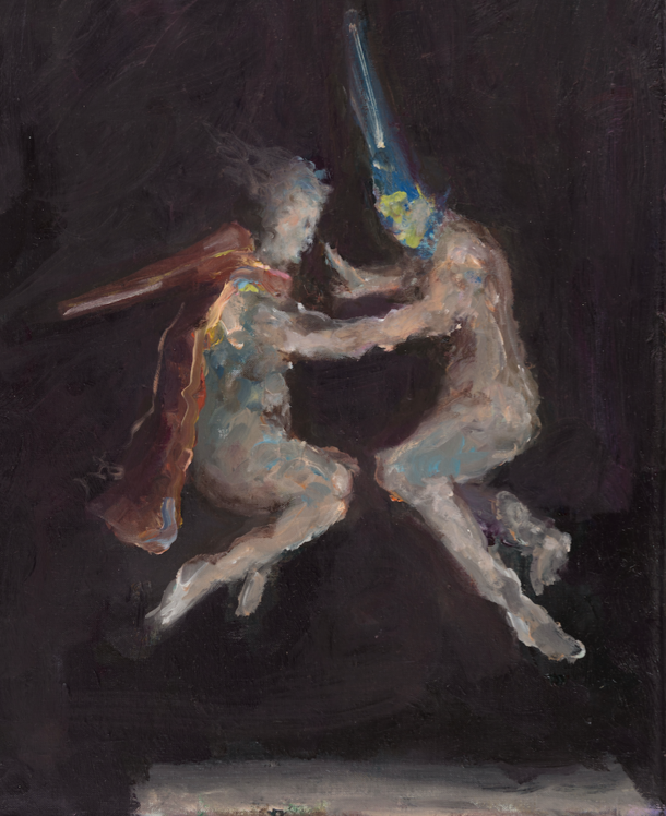 Valerie Favre,    Ghost (nach Goyas Hexenflug )  ,   2015, Oil on canvas