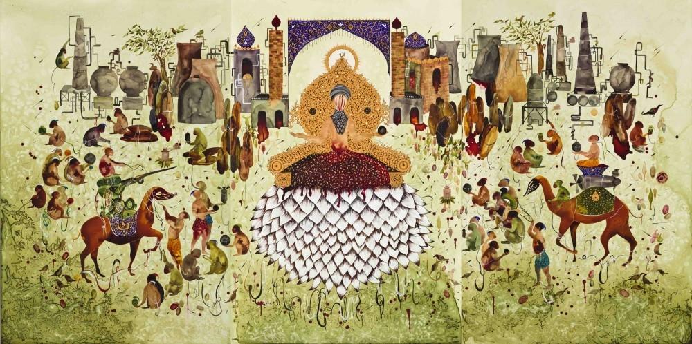 Shiva Ahmadi, Lotus, 2014, Videoinstallation, Dimensionen variabel, Edition 2/5 +1 AP, Courtesy die Künstlerin und Leila Heller Gallery, New York / Dubai
