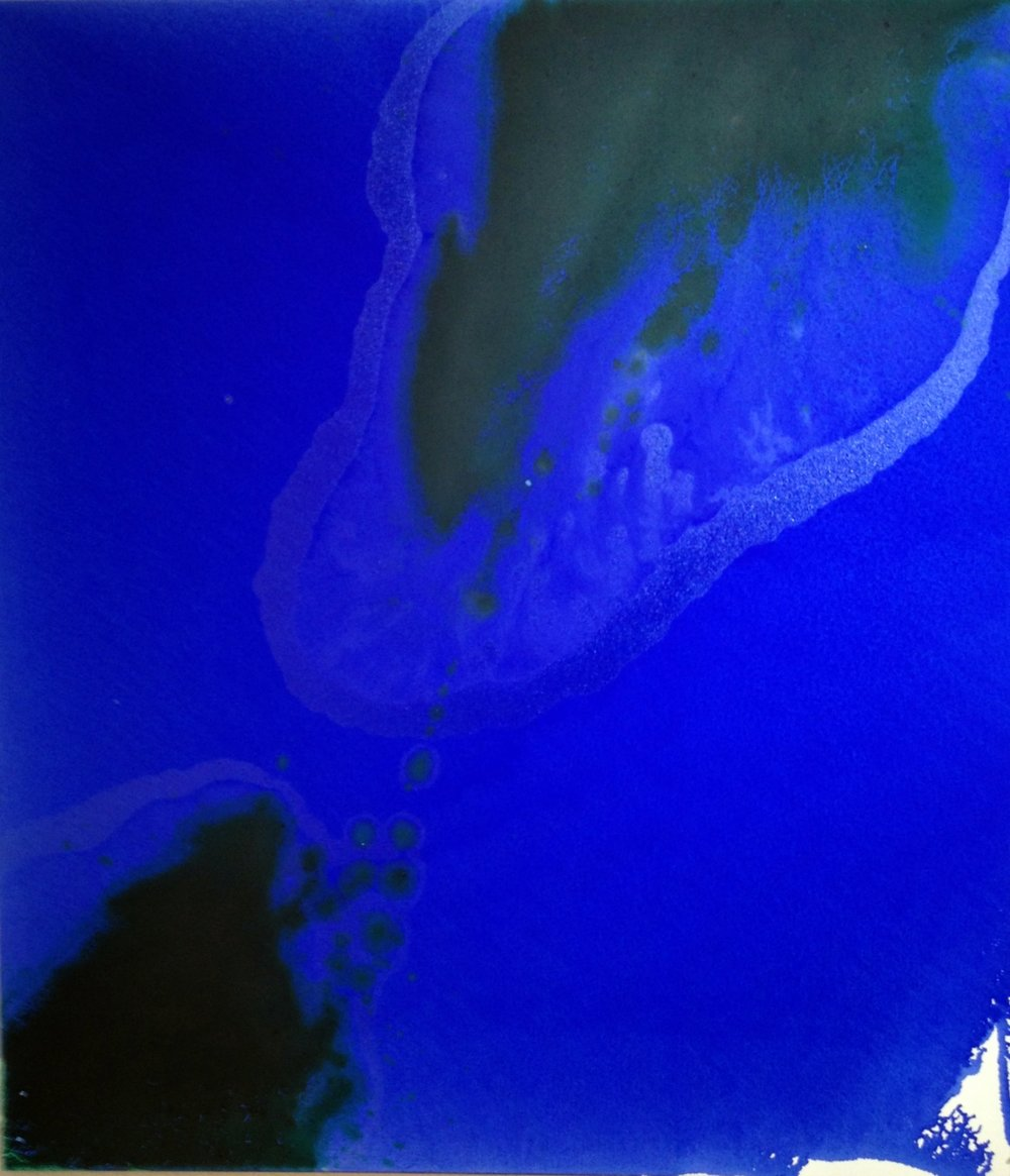 Ingeborg zu Schleswig-Holstein, O Bruder, durchwandre die Nacht im Schlaf wie die Gestirne, Denn in der Nacht musst du die Heimat des verborgenen Gefährten suchen. (Rumi), 2016, Öl auf Leinwand, 520 cm x 250 cm (Triptychon), Courtesy die Künstlerin und Werkstatt Galerie