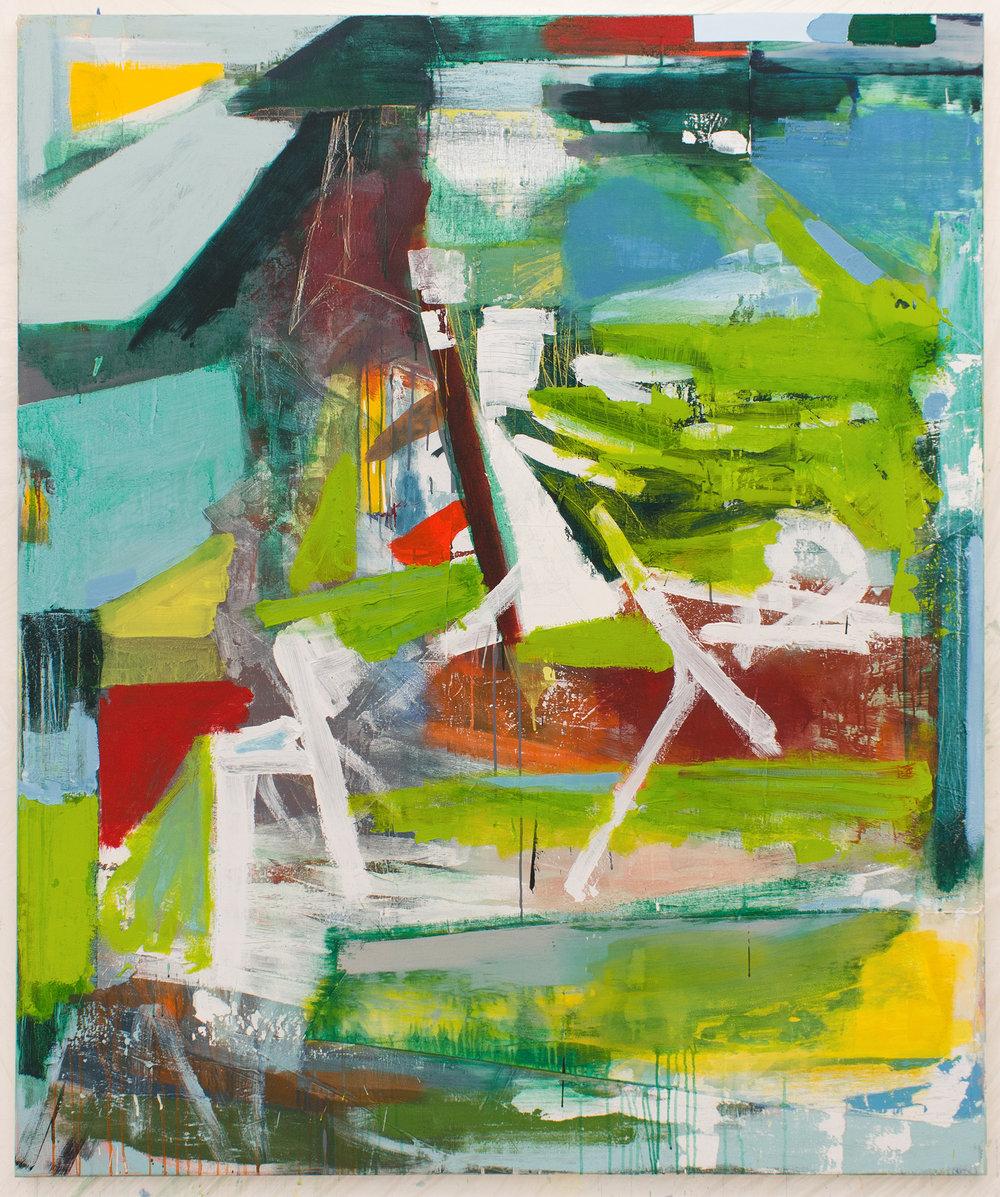 Michael Markwick, Shoreline, 2017, 180 x 150 cm