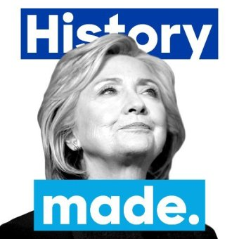 "Hillary Clinton changed her Twitter avatar to ""History Made"" on Super Tuesday"