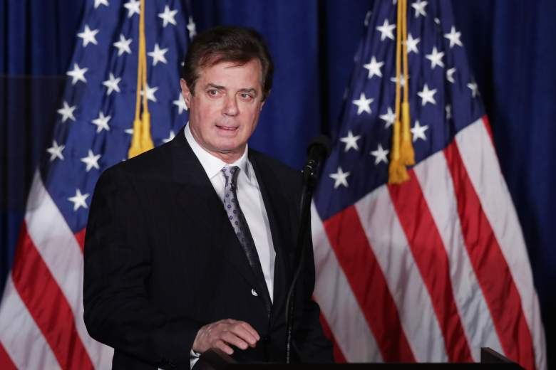 Paul Manafort on the 2016 campaign trail while serving as chair of the Trump campaign Credit: Getty Images