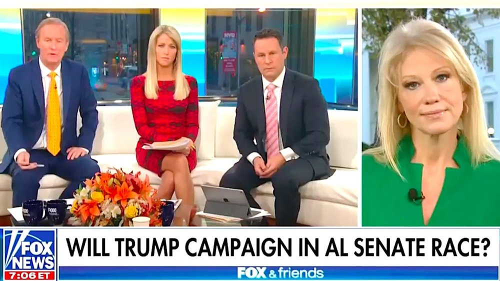 Conway on the morning Fox News program Fox & Friends 11/20/17 Credit: Fox News