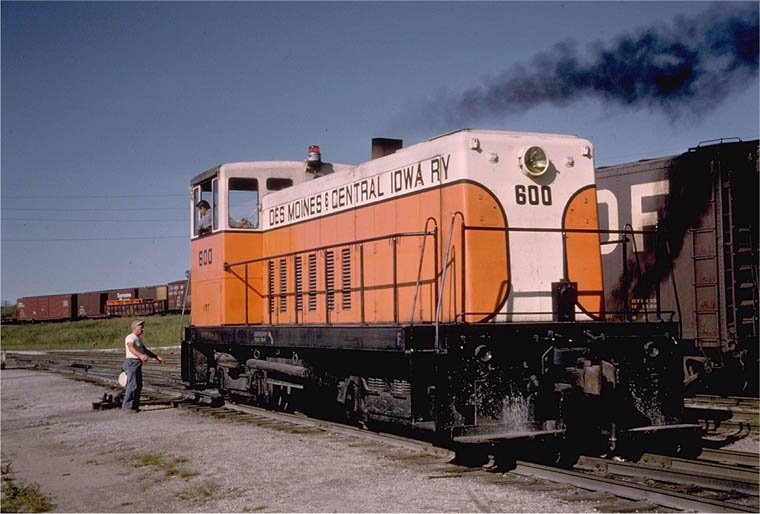 DM&CI diesel engine 600, photo circa 1950.
